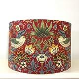 Handmade Lampshade William Morris Strawberry Thief Crimson Red