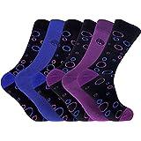 6paia di calzini funky morbidi, antibatterici e colorati con motivo bambù, numeri 40,5-45