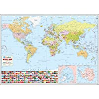 "World Wall Map - 52"" W x 37"" H (2017 Edition)"