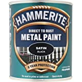 Hammerite 5084907 908 Hammered Metal Paint, 2.5 Liter, Satin Black