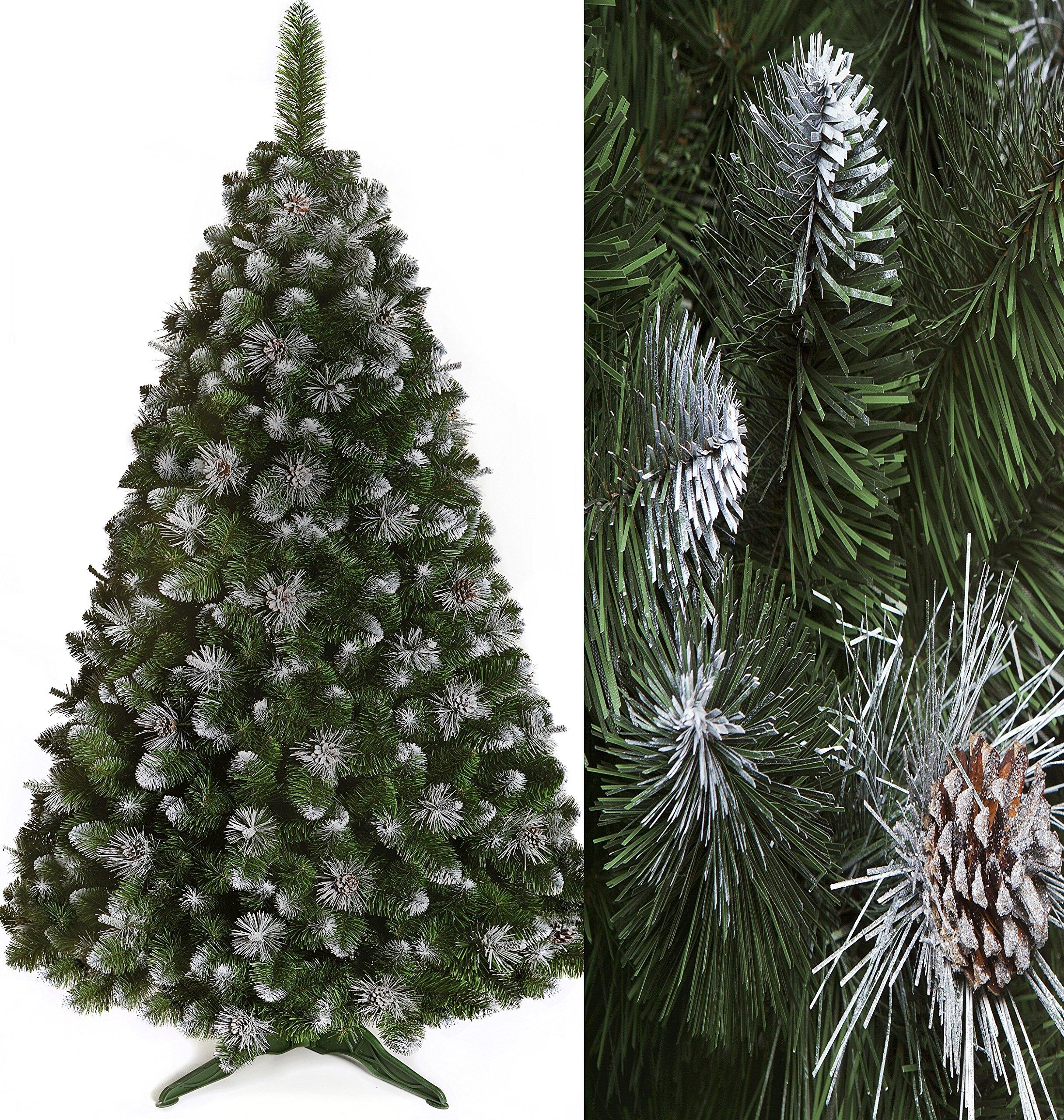 SILBERKIEFER-Weihnachtsbaum-Kunstbaum-knstlicher-Baum-Weihnachten-Schnee-Tannenbaum-Kiefer-Fichte-inkl100stMini-HARIBO-Goldbren