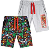 Marvel Pantalones Cortos, Pantalon Corto Niño con Los Vengadores Iron Man Capitan America Thor y Hulk, Pantalon Pijama Niño V