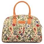 The Clownfish Fabric 46 cms Flax Travel Duffle (TCFDBTP-MI27LFLX19)