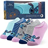 Disney Socks Girls No Show Socks 5 Pack Invisible Low Cut Socks, Disney Gifts