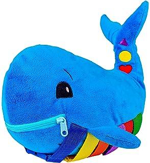 EZLink Plush Soft Travel Toy-Toddler Early Learning Toy avec boucles-Basic Life