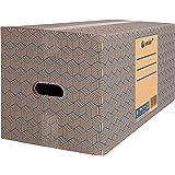 Pack 12 Cajas Carton para Mudanzas y Almacenaje 600x370x275mm Ultra Resistentes con Asas, 100% ECO Box | packer PRO