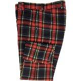 Pantaloni da uomo in tartan Stewart nero