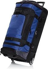 AmazonBasics Ripstop Wheeled Duffel, 35 Inch - Blue