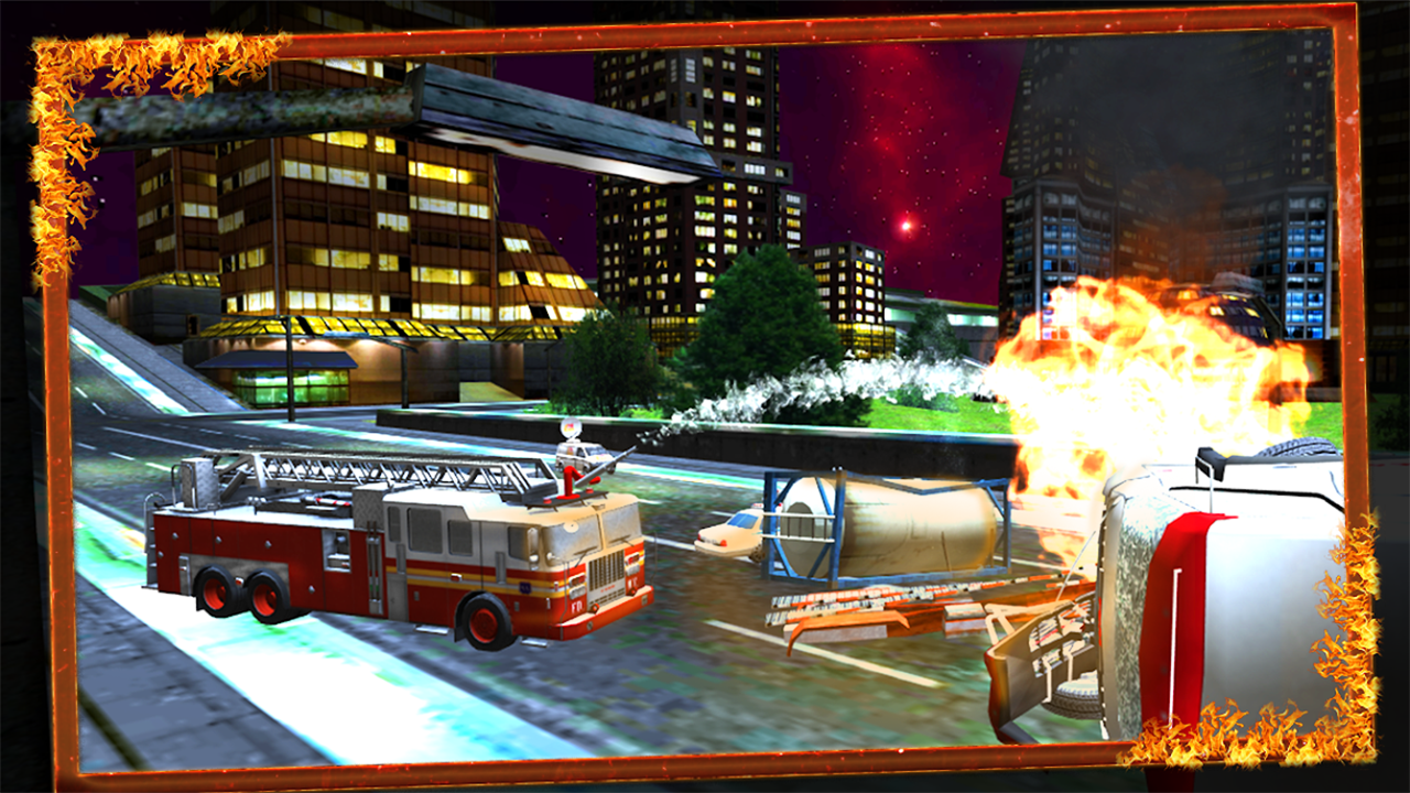 Firefighter Truck Driver Emergency Madness 3D: 911 Rescue