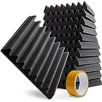 freequenzy Akustikschaumstoff - Schallschutz 5cm dick, 30x30cm, 12 Stk. - Schalldämmung Anthrazit…