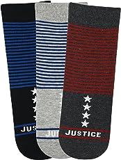 Justice League Kids Crew Socks- Black, L.Grey, D.Grey - Pack of 3