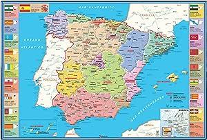 Viquel 137609-05 Sous main avec carte de l'Espagne en espagnol