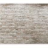 murando® Fototapete Ziegel Optik 400x280 cm - Vlies Tapete - Moderne Wanddeko - Design Tapete - Wandtapete - Wand Dekoration - Steintapete Steine Brick Mauer Ziegel rot Mauer f-A-0570-a-a