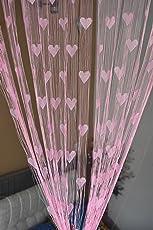 Homefab India Beautiful String Heart Curtains