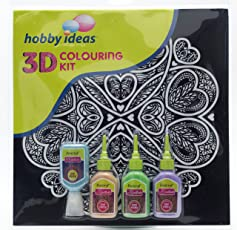 Pidilite 3D Mandala Hearts Colouring Kit, 20ml (8.901860754e+012)