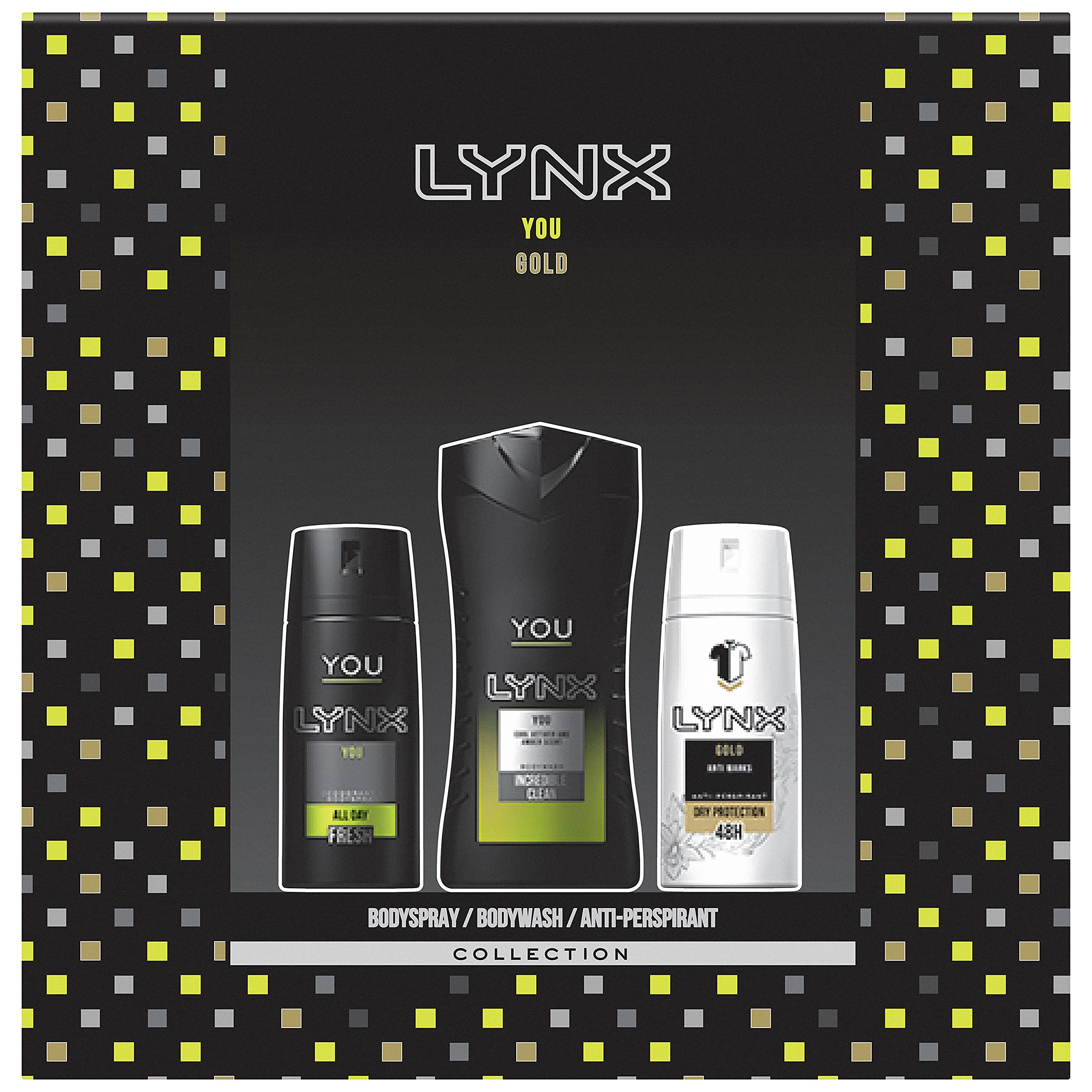 Lynx You Plus Gold Trio Gift Set For Men, Exclusive To Amazon