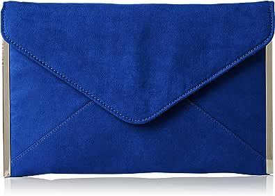 SwankySwans Damen-Clutch Louis, Veloursleder/Samt, schlankes Briefumschlag-Design, ideal für Partys, Hochzeiten, feine Anlässe