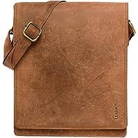 LEABAGS London Leder-Umhängetasche I Laptoptasche bis 13 Zoll I Messenger Bag aus echtem Büffel-Leder im Vintage Look I…