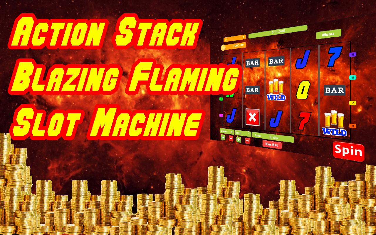Action Stack Blazing Flaming 7s Casino Slot Machine Poker Machine
