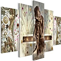 murando Impression sur Toile intissee Buddha Zen 100x50 cm 5 Parties Tableau Tableaux Decoration Murale Photo Image…