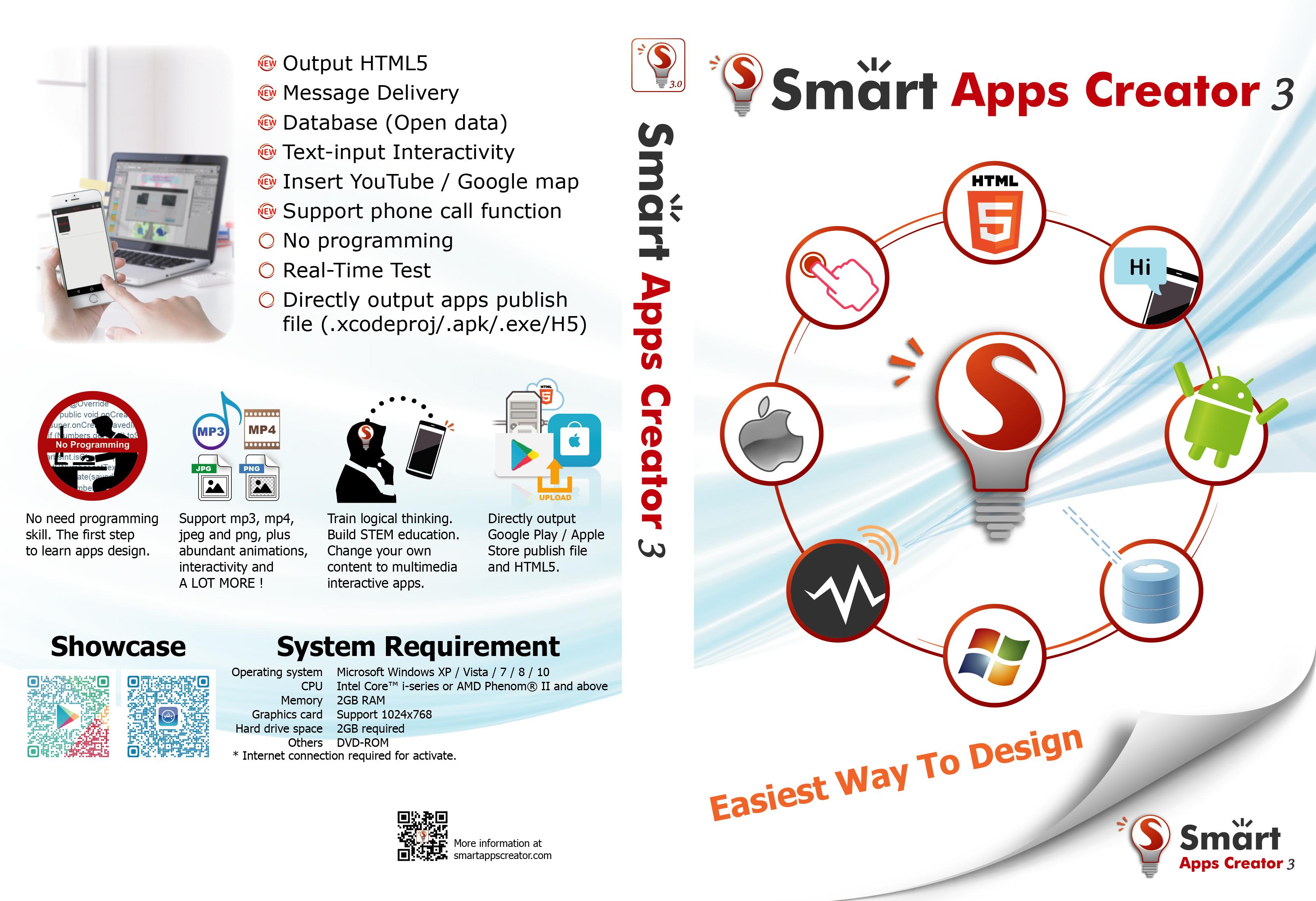Smart Apps Creator 3, einfachste Art, App + HTML5 zu gestalten (Einjahresabonnement) [Download]