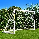 FORZA But de Football PVC pour Le Jardin/Entraînement - Cage de Foot Portable avec Filet & Poteaux Imperméables (6 Tailles) |