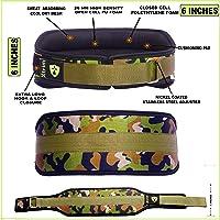 Xtrim Dura Belt -6 INCH WIDE-10MM Thick-Unisex-Gym Fitness Weightlifting Belt-16 MM PU Foam Padded Comfort-Self Locking…