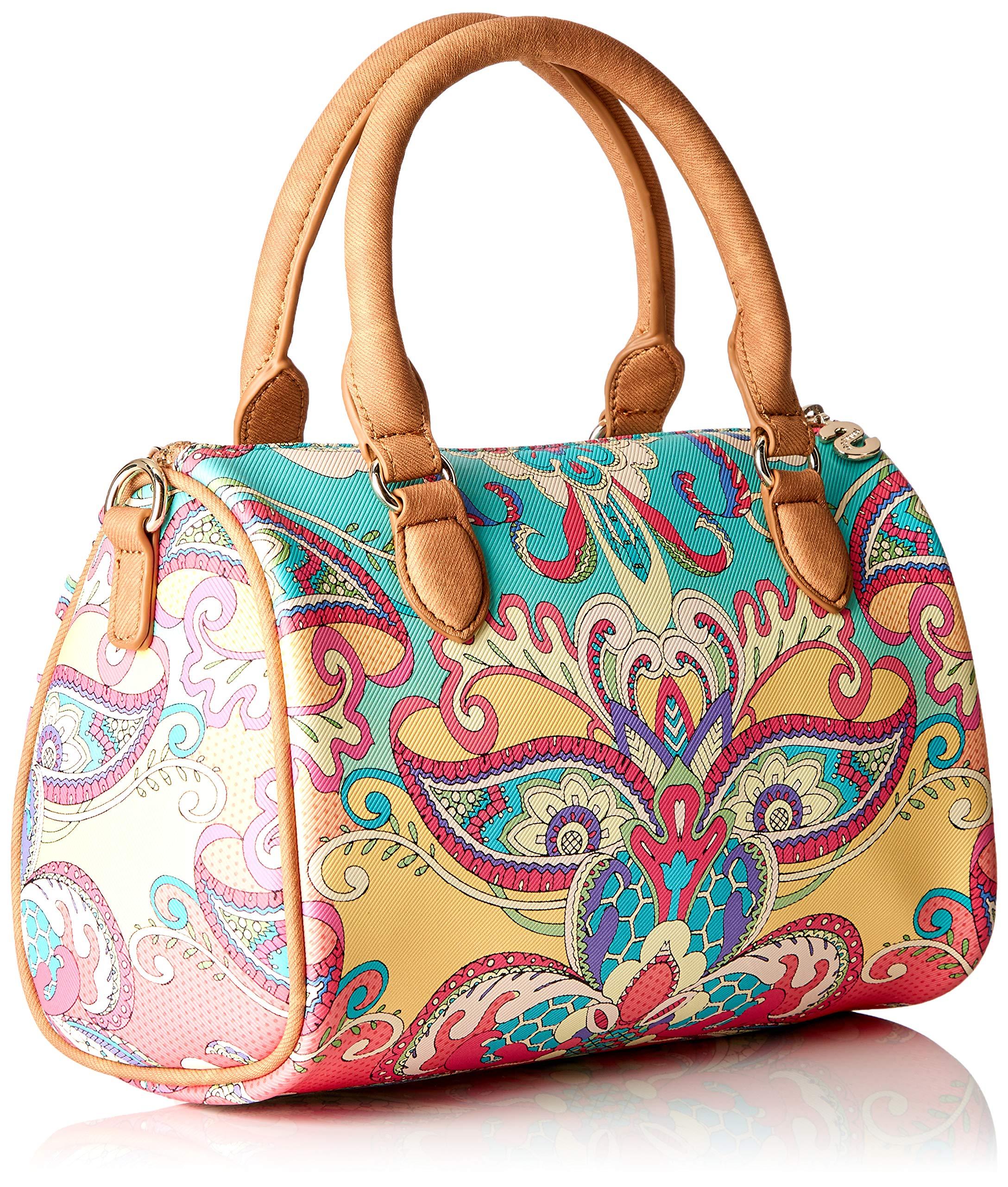 Desigual Bag Grand Valkiria Bowling Med Women - Borsette da polso Donna, Arancione (Coral), 13.7x18x27 cm (B x H T) 2 spesavip