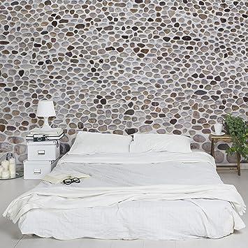 Steintapete grau weiß  Fototapete | Steintapete Andalusische Steinmauer - Vliestapete ...