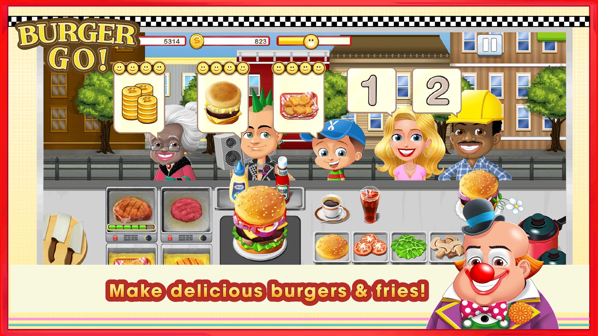 Burger go jeu de cuisine appstore pour android - Jeu de cuisine android ...