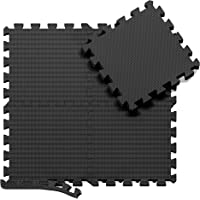 Tapis de Protection de Sol – 18 Dalles en Mousse sans BPA + Bordures | Matelas Puzzle pour Matériel Fitness, Gym…