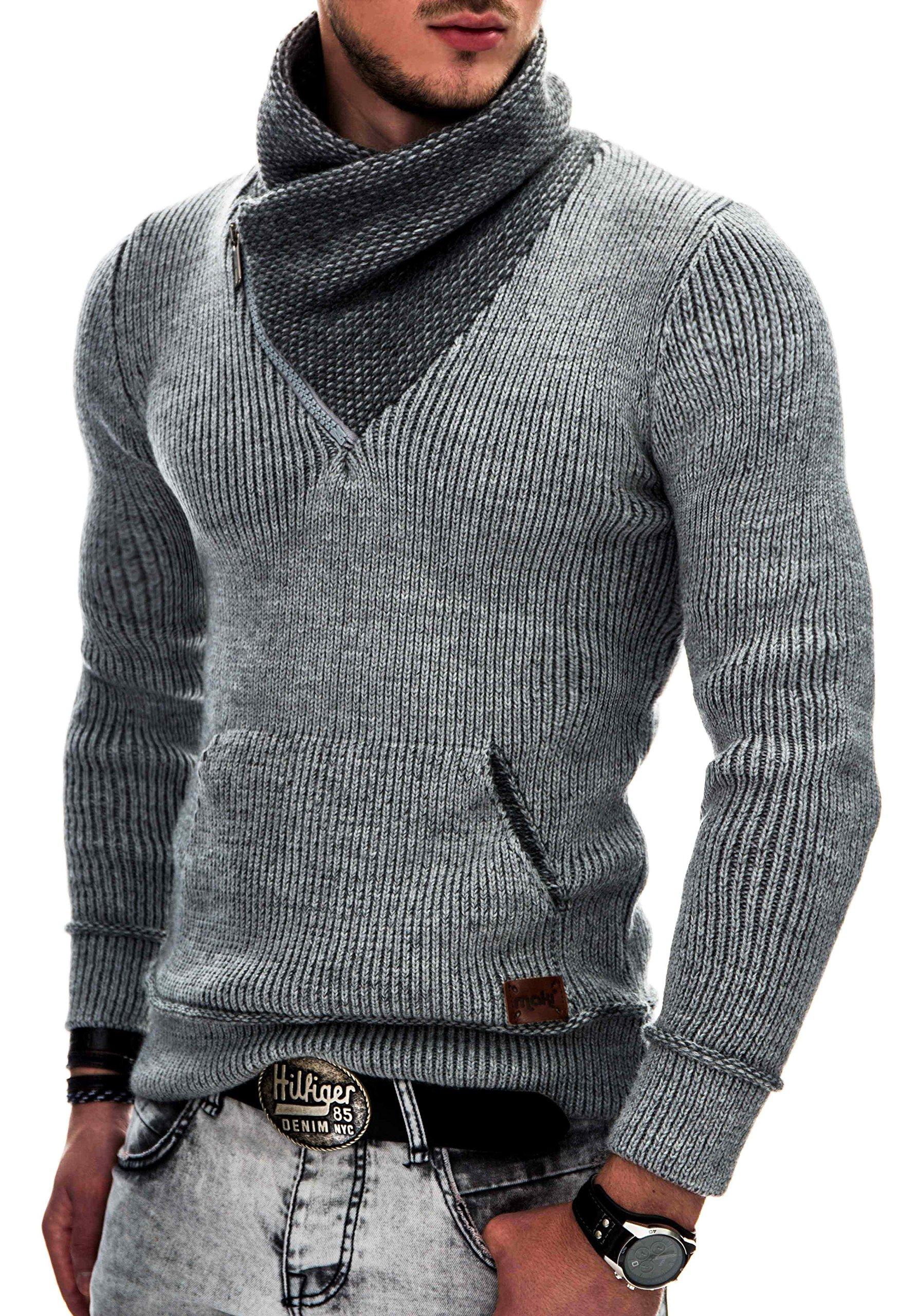 INDICODE Hombre Suéter Tejido Sudadera con capucha Cárdigans Pullover Jerséis Knit Sweater Sweatshirt 35-114 S M L XL XXL