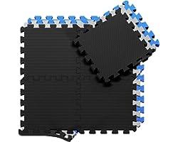 Beschermende Vloermatten Zachte Foam Tegels in Elkaar Grijpende Schuimmatten - 18 Stuks EVA Schuim Puzzelmatten | Vloermat Be