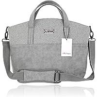 Herzmutter Wickeltasche-Kinderwagentasche - inkl. Wickelunterlage, Kinderwagen-Befestigung, Isoliertäschchen…