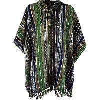Guru-Shop, Poncho Hippie Chic, Ethno Poncho, Poncho Andino, Verde/nero, Cotone, Dimensione Indumenti:One Size, Giacche…