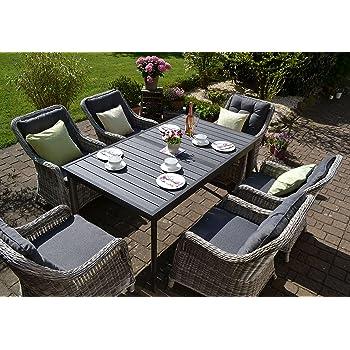 Amazon.de: Bomey Rattan Lounge Set I Gartenmöbel Set Como 7-Teilig I ...