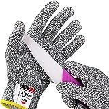 NoCry schnittsichere Handschuhe für Kinder – Leistungsfähiger Level 5 Schutz, lebensmittelecht. Größe : XXS (4-7 Jährige), 1 Paar