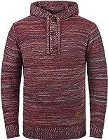 !Solid Melker Herren Strickpullover Kapuzenpullover Feinstrick Pullover Mit Kapuze Und Melierung Aus 100% Baumwolle
