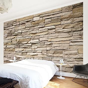 fototapete steinwand hell. Black Bedroom Furniture Sets. Home Design Ideas