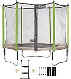 Kangui - Trampoline de Jardin JUMPI Zen - Ø 250-305 - 360-430 cm + Filet + Échelle + Kit d'ancrage