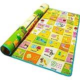 Alea Baby® Tappeto Neonato Gattonamento Ripiegabile (con borsetta) Gioco e Divertimento Bambini con tanti Colori, Animaletti