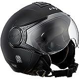 Vega Verve Open Face Helmet (Women's, Dull Black, M)
