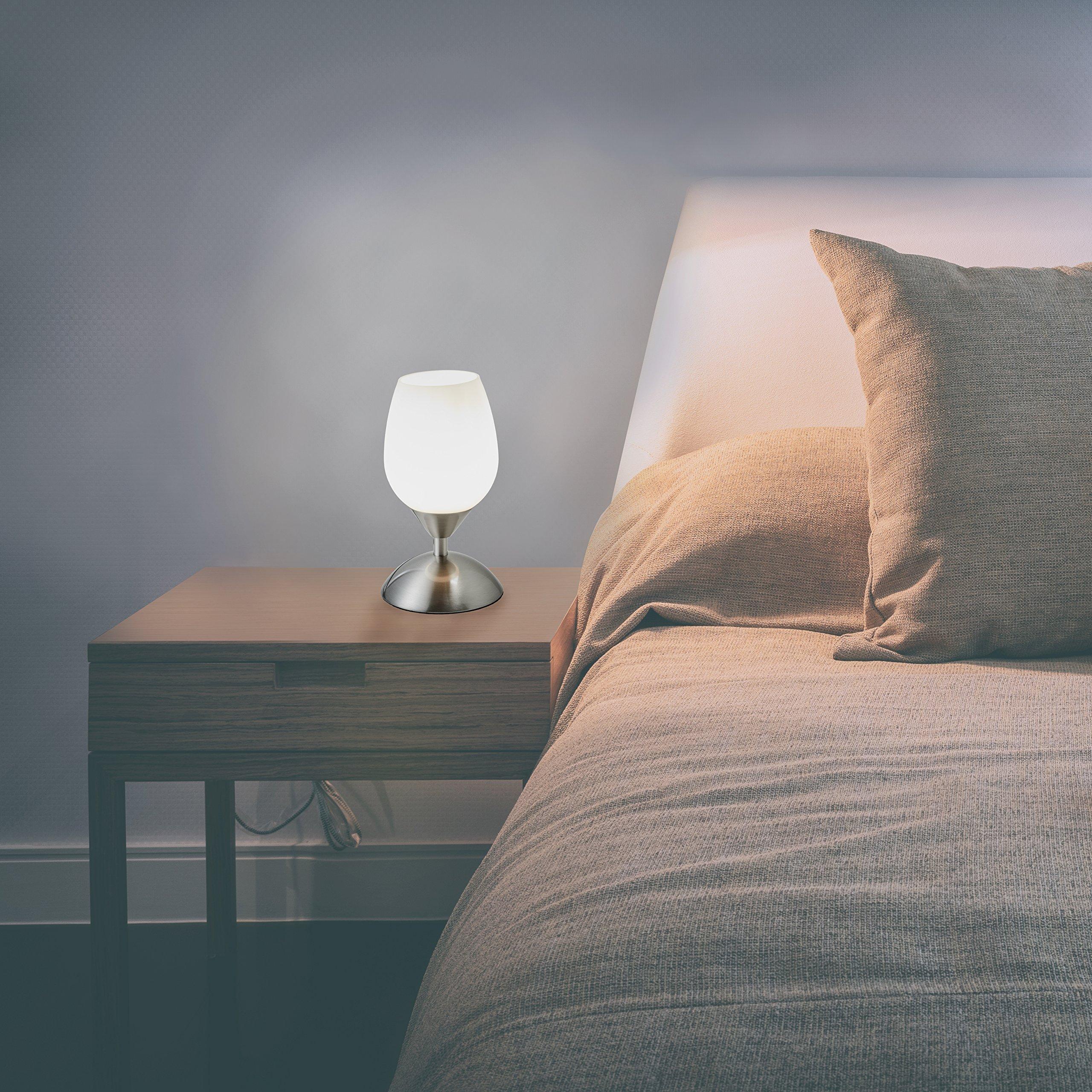 B K Licht Lampe De Chevet Tactile 3 Intensites Lampe De Chevet