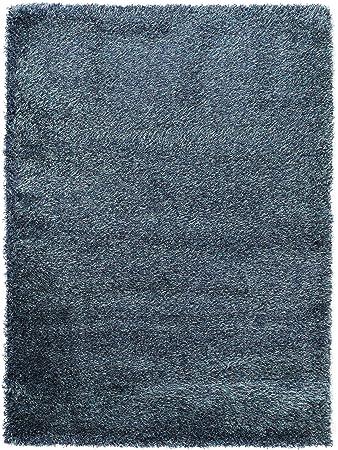 Benuta Langflor Teppich Fr Schlafzimmer Und Wohnzimmer Kunstfaser Blau 140 X 200 Cm