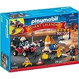 Playmobil 9486 Advent Calendar Construction Site Fire Rescue, For Children Ages 4+