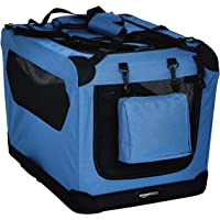 AmazonBasics Premium Folding Portable Soft Pet Dog Crate Carrier Kennel - 26 x 18 x 18 Inches, Blue