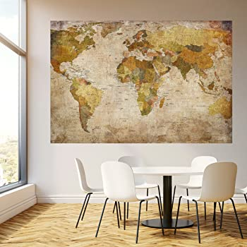 carte du monde style ancien poster grand format 91 5 x 61. Black Bedroom Furniture Sets. Home Design Ideas