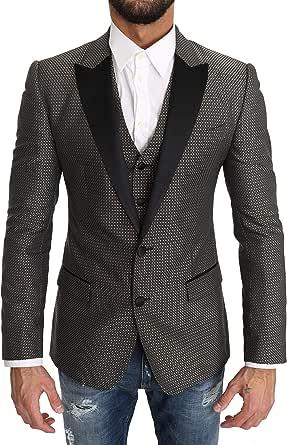 Blazer Vest 2 Piece Gray Martini Pattern
