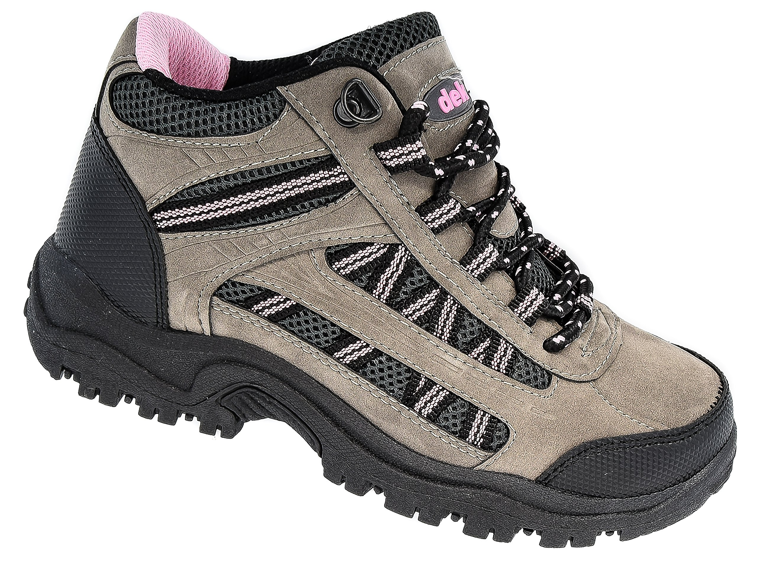 Dek Ladies Pink Grey Black Hiking Walking Trail Boots Sizes 3 to 8