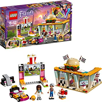 LEGO 41349 Friends Heartlake Drifting Diner Playset, Andrea and Dottie Mini Dolls, Retro Dinner and Movie Screen